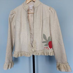 Zoe D Short Embroidered Jacket